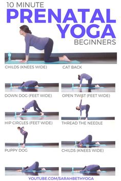 This 10 minute prenatal yoga for beginners is simple but effective pregnancy yog. - This 10 minute prenatal yoga for beginners is simple but effective pregnancy yoga for ALL trimester - Prenatal Workout, Pregnancy Workout, Pregnancy Tips, Prenatal Yoga Poses, Pregnancy Fitness, Pregnancy Yoga Poses, Yoga During Pregnancy, Pregnancy Pilates, Pregnancy Back Pain