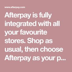 Afterpay is fully integrated with all your favourite stores. Shop as usual, then choose Afterpay as your payment method at checkout. First-time customers complete a quick registration, returning customers simply log in. White Plus Size Dresses, Sms Message, Financial Institutions, Privacy Policy, In Writing, Terms Of Service, Integrity, First Time, Wedding