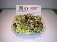Freshii - Chicago  Cranberry Apple Crunch Salad $6.99  World Kidney Day (3/13 & 14/2012).  75% of sales donated to Natl Kidney Foundation Inc. of Illinois.