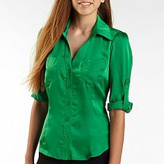 XOXO® Short Sleeve Charm Boyfriend Shirt