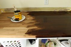 Staining and sealing IKEA butcher block countertops