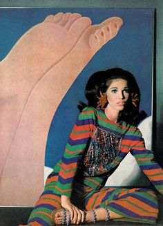 Photo by Horst P Horst, 1966.  Model is Ann Turkel, Richard Harris' second wife ....