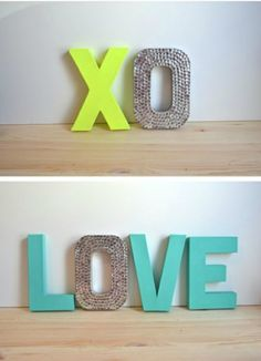 Brighten an empty wall in your house with cheap and easy decor ideas using cardboard letters. Here are my favorite 14 ways to decorate cardboard letters.