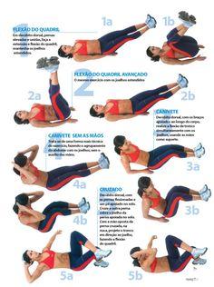 dica de treino: comece os 10 primeiros minutos com abdominal, 1 minuto em cada exercício