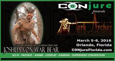 We at CONjure are excited and proud to announce the first of many expert panelists from the most respected among the Cosplay community! Please join us in welcoming leather working master, JOSHUA VON WAR BEAR of Dark Archer Designs!  Interested in learning how to work with leather? It isn't as scary as you may think! Join Joshua as he demonstrates his tricks and tips of sewing,dyeing, cutting, molding and creating in the art of leather. A definite don't miss-event!