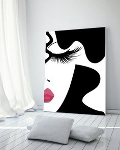 Makeup print fashion print makeup art lashes print digital print make up print vanity print makeup prints beauty art makeup decor Makeup Canvas, Art Beauté, Fashion Make Up, Fashion Fashion, Art Diy, Make Up Art, Diy Canvas Art, Acrylic Painting Canvas, Beauty Art