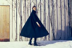 coat by samuji Fashion Wear, Daily Fashion, Fashion Outfits, Fashion Shoot, Mode Editorials, Sartorialist, Winter Collection, Editorial Fashion, Beautiful Dresses
