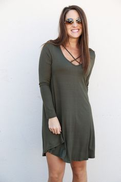 This easy dress is a fabulous addition to your closet! Whether it be for a date night, or just throw on and go, this one is a convenient choice. Available in three different colors--Maroon, Black, and