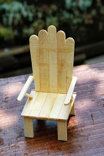 Ice Cream Stick Chair PlusCrafts For Kid Inspiration For Children Of All Ages. Arts & crafts for kids are fun for children who want to make something unique. Try these art and craftactivities & projects for kids.Garden chair from popsicle sticks or coffee Ice Cream Stick Craft, Popsicle Stick Houses, Popsicle Crafts, Craft Stick Crafts, Diy And Crafts, Resin Crafts, Ice Cream Sticks, Pop Stick Craft, Popsicle Stick Crafts For Adults
