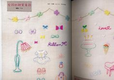 215 Cute Embroidery Samplers Japanese Craft Book by CollectingLife