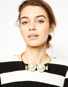 Bild 3 von ASOS – Halsband mit großen Kunstperlen