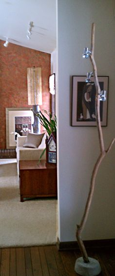In the foreground is my origional stick lamp - 2008 In the background is another shot of Tall Boy
