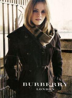 Emma Watson looks fantastic in Burberry...