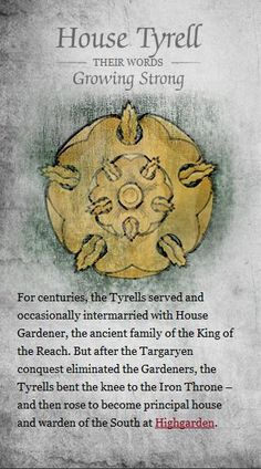 House Tyrell ♊️ •Game of Thrones•