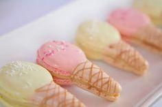 cutest. ice cream cone macarons