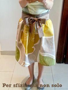 Cucito creativo - abiti - gonna handmade con cintura a fiocco cfc4260bb18