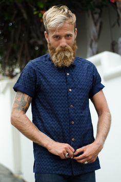 Orn Hansen x Dixon Rand Indigo Camp Shirt  #madeinusa #ornhansen #dixonrand