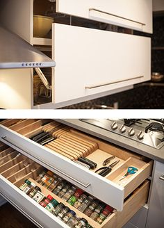 Knife drawer a must for kitchen reno - by Greener Studios