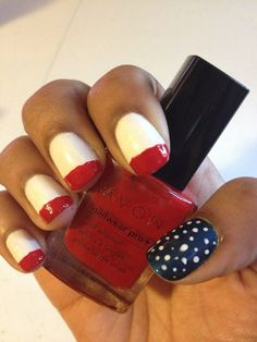 #MakeupMaven Haizel M. used Nailwear Pro+ in Cosmic Blue, Real Red and French Tip White.