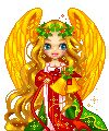 blonde angel animated shaking bell gif Christmas Holiday