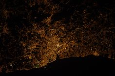 The spectacular glow of cities at night