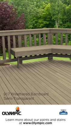 917 WEATHERED BARNBOARD is a part of the Olympic Stains - Semi-Transparent collection by Olympic® Stains.