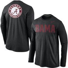 Mens Alabama Crimson Tide Nike Black Attribute Long Sleeve T-Shirt