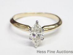 Genuine GIA 0.86CT Good Cut Marquise 14k Diamond Engagement Ring Brand New #Solitaire