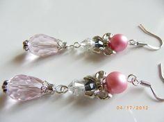 Handmade Teardrop Glass Beads Pearl Crystal $21