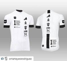Diseño del maillot oficial 1er campus Nacional de Club diseñado por @jorditri76 , elegante y con clase !!!!! @taymory #strada