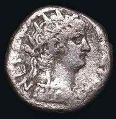 Ancient Silver Coin Of Emperor Nero Tetradrachm of Egypt