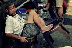 Rag-and-bone man in Chinatown, Singapore