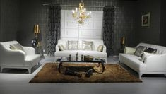 Divani Casa D6000 Modern Tufted Leather Sofa Set