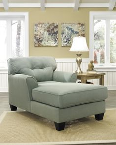 Flared arms, tufted back cushion, fluid lines and perfectly pastel upholstery make the Kylee chaise fully in vogue. Textured microfiber upholstery and cloud-like cushions kick comfort up a notch.