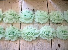 Shabby Chic MINT GREEN MINI Rose Trim - Etsy.