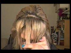 "Corte Flequillo, Tupe o Copete ""de lado, degrafilado y recto""-How to cut..."