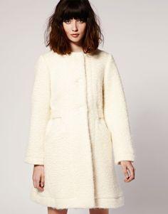 ce4b0dc6443d0c Peter Jensen Belted Anna Karena Coat in Wool Fleece - StyleSays Peter  Jensen