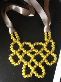 DIY Statement Necklace: Beaded Bib Necklace