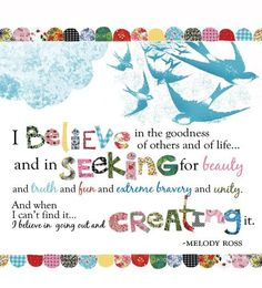believe, seek, create