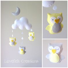 Baby mobile owl Crib mobile owls baby mobile by lovefeltmobiles