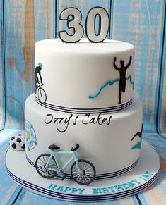 Cycling Birthday Cake - Cake by Izzy's Cakes