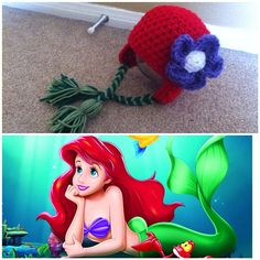 Eric and Ariel Beanies Couples Knit Hats Fun Trip or Travel Hats