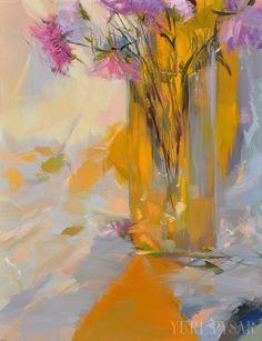Blumenstillleben, Grafik, Malerei, Ölgemälde Blumen drucken, Orange Wand Kunst, lila Leinwand Kunst