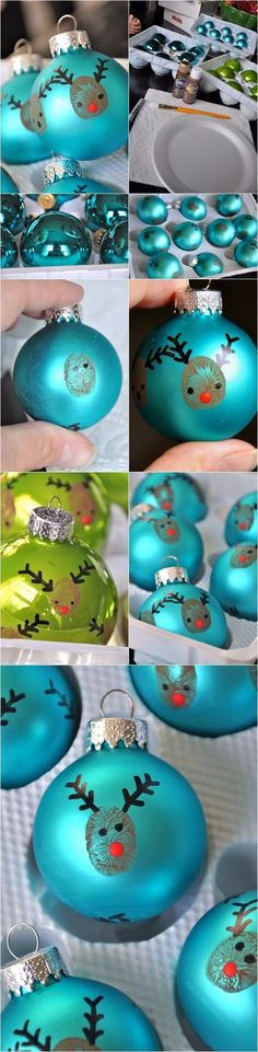 20 minute crafter-reindeer thumbprint ornaments | DIY Crafts Club