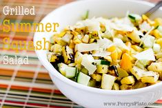 Grilled Summer Squash Salad