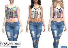 NY Girl Sims: Movie Hangout Tank in Prints • Sims 4 Downloads