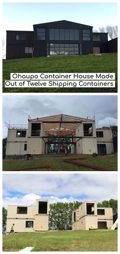 Ohaupo Container House Made Out of Twelve Shipping Containers - New Zealand - Living in a Container Shipping Container Home Designs, Cargo Container Homes, Building A Container Home, Shipping Container House Plans, Container Buildings, Container House Design, Shipping Containers, Container Home Plans, Up House