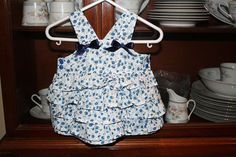 Ruffle Baby Dress with Bows by amosmom on Etsy, $38.50