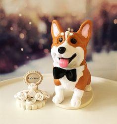 4-6 Custom Pembroke Corgi Custom Wedding Cake by DogCakeTopper