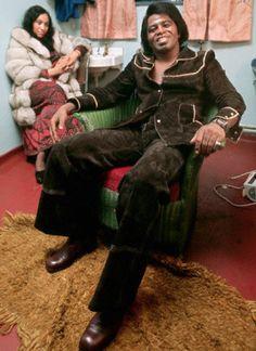 James Brown and his retro pimp do                                                                                                                                                                                 Plus
